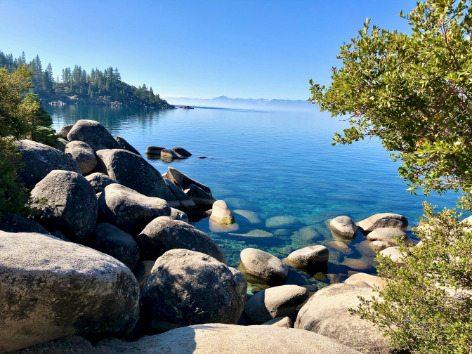 Lake Tahoe morning mist